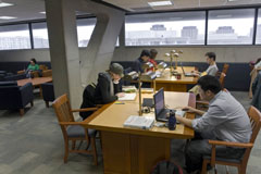picture of the graduate student reading room